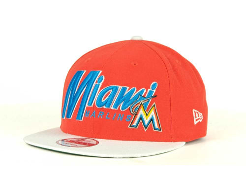Miami Marlins New Era MLB Pull It Back 9FIFTY Strapback Cap Hats