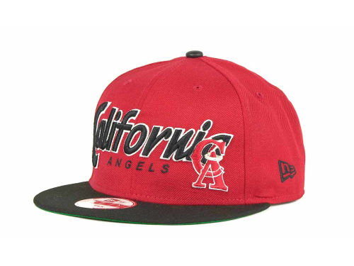 Los Angeles Angels of Anaheim New Era MLB Pull It Back 9FIFTY Strapback Cap Hats