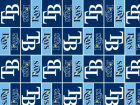 Tampa Bay Rays Forever Collectibles Gift Wrap Holiday