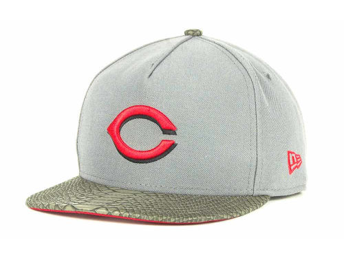 Cincinnati Reds New Era MLB Snake A-Thru Strapback 9FIFTY Cap Hats