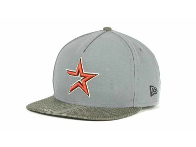 Houston Astros MLB Snake A-Thru Strapback 9FIFTY Cap Hats