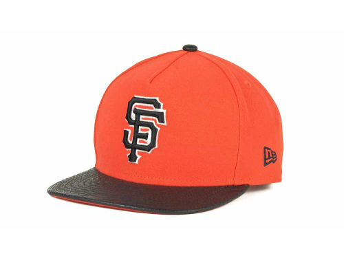 San Francisco Giants New Era MLB Snake A-Thru Strapback 9FIFTY Cap Hats