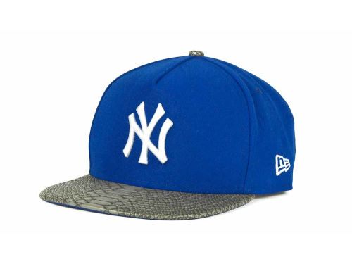 New York Yankees New Era MLB Snake A-Thru Strapback 9FIFTY Cap Hats
