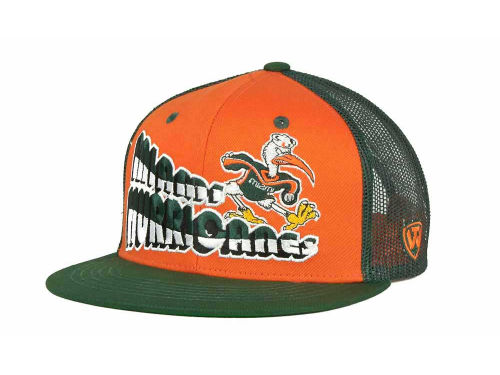Miami Hurricanes Top of the World NCAA Quagmire MB Snapback Cap Hats