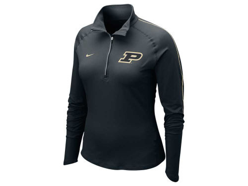 Purdue Boilermakers Nike NCAA Womens Dri-Fit Element Half Zip Top