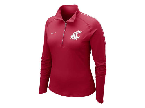 Washington State Cougars Nike NCAA Womens Dri-Fit Element Half Zip Top