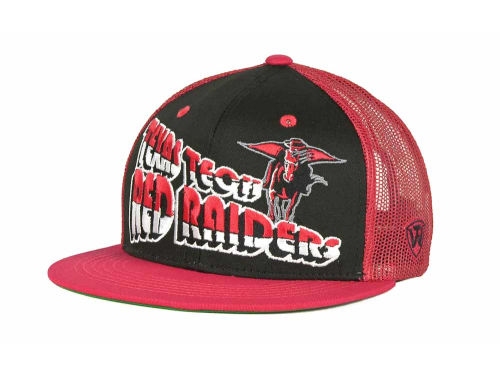 Texas Tech Red Raiders Top of the World NCAA Quagmire MB Snapback Cap Hats