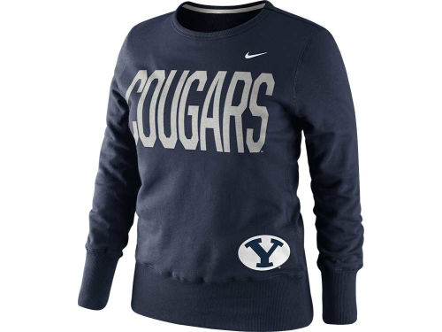 Brigham Young Cougars Nike NCAA Womens Classic Fleece Crew