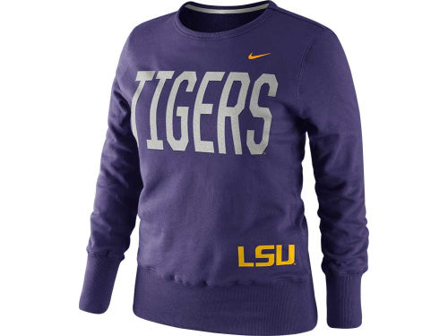 LSU Tigers Nike NCAA Womens Classic Fleece Crew
