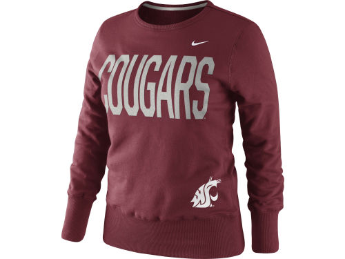 Washington State Cougars Nike NCAA Womens Classic Fleece Crew