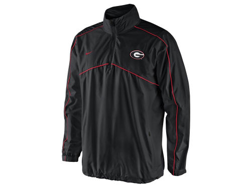 Georgia Bulldogs Nike NCAA Woven Coaches 1/4 Zip Pullover Jacket
