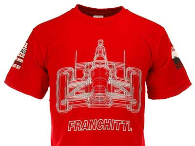 Dario Franchitti Racing Kids Glowing Car Driver T-Shirt