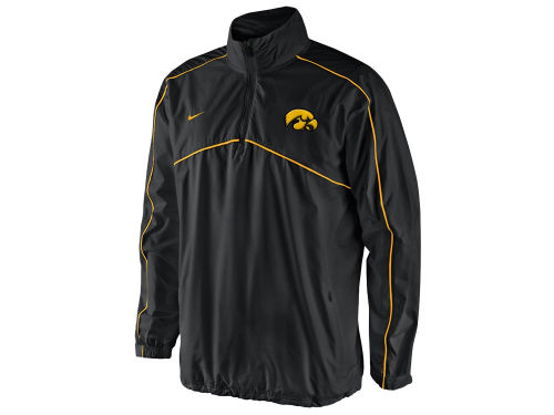 Iowa Hawkeyes Nike NCAA Woven Coaches 1/4 Zip Pullover Jacket