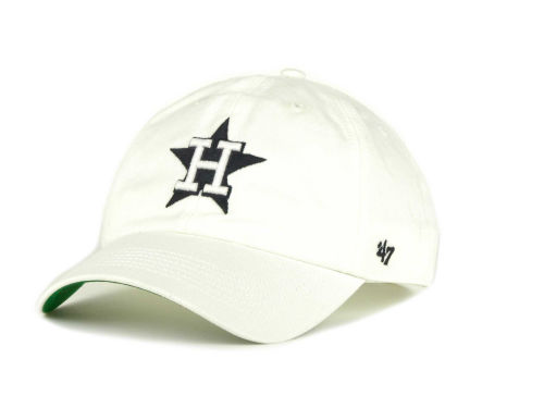 Houston Astros '47 Brand MLB Pull Thru Clean Up Cap Hats