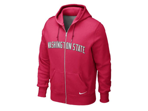 Washington State Cougars Nike NCAA Classic Full Zip Hooded Sweatshirt