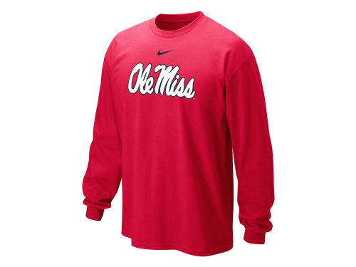 Mississippi Rebels Nike NCAA Long Sleeve Classic Logo T-Shirt
