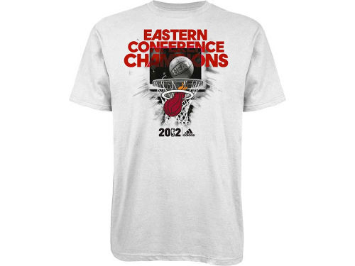 Miami Heat adidas NBA 12 Conference Champ Final Basket T-Shirt