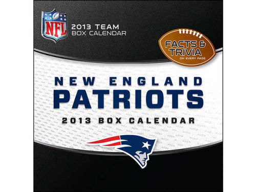 New England Patriots 2013 Box Calendar