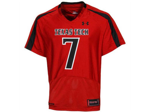 Texas Tech Red Raiders TTU #7 Under Armour NCAA Replica Football Jersey