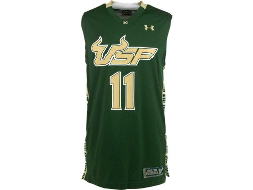 South Florida Bulls Under Armour NCAA UA Replica Basketball Jersey