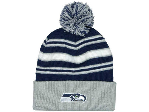 Seattle Seahawks Outerstuff NFL OUT Cuffed Pom Knit Hats