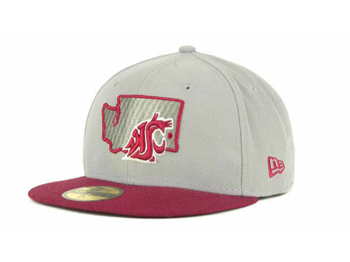 Washington State Cougars New Era NCAA State 59FIFTY Hats