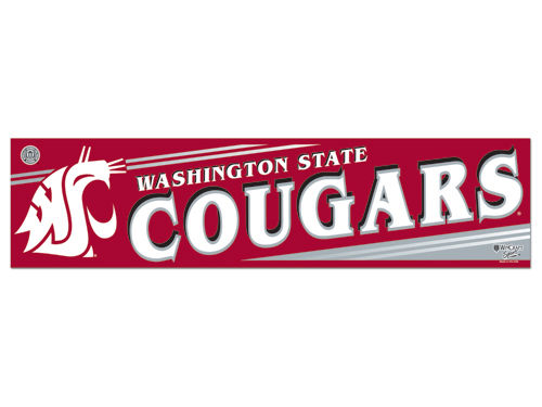 Washington State Cougars Wincraft Bumper Sticker