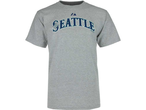 Seattle Mariners Alex Rodriguez Majestic MLB Wordmark T-Shirt