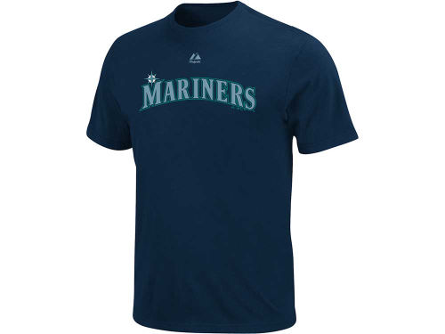 Seattle Mariners Majestic MLB Wordmark T-Shirt