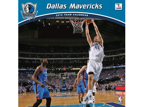 Dallas Mavericks 2013 12x12 Team Wall Calendar