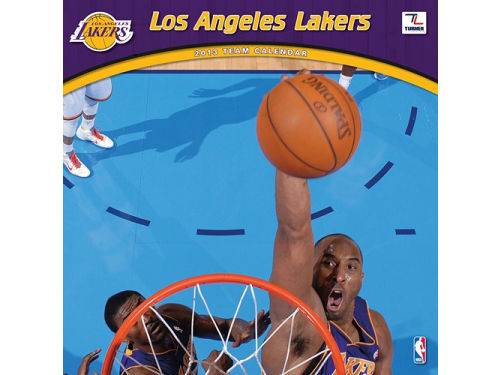 Los Angeles Lakers 2013 12x12 Team Wall Calendar