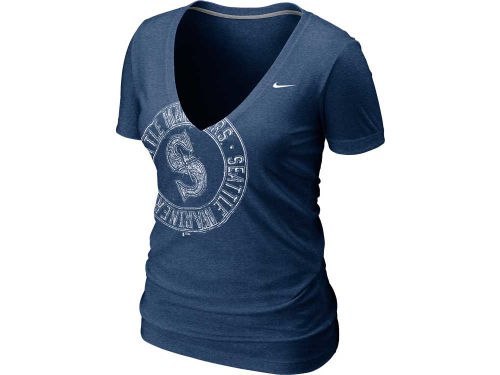 Seattle Mariners Nike MLB Womens Deep V T-Shirt 12