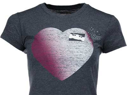 IndyCar Series Racing Womens Kind Hearted Crew T-Shirt