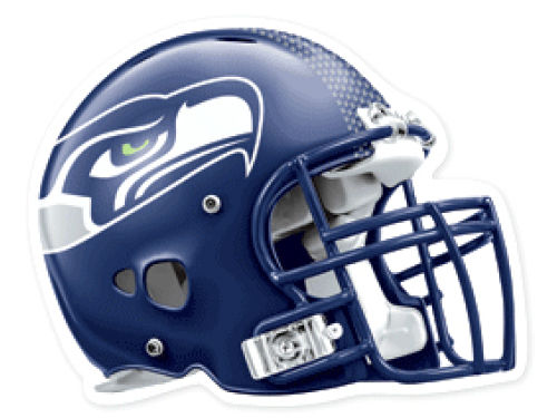 Seattle Seahawks Wincraft 4x4 Die Cut Decal Color