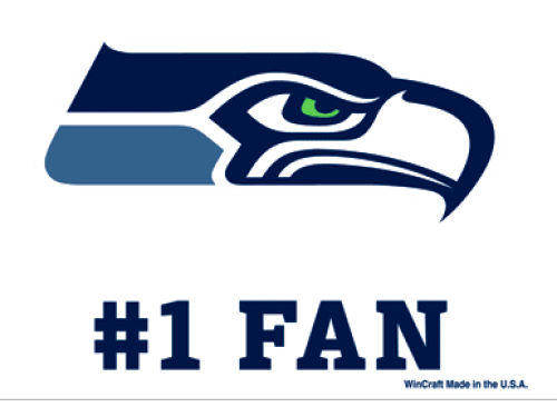 Seattle Seahawks Wincraft 3x4 Ultra Decal
