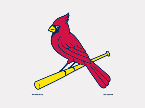 St. Louis Cardinals Wincraft 4x4 Die Cut Decal Color