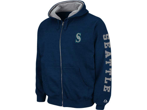 Seattle Mariners Majestic MLB Fire Zip Hoodie