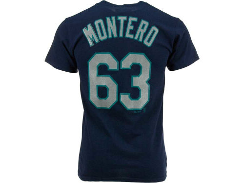 Seattle Mariners Jesus Montero Majestic MLB Men's Player T-Shirt