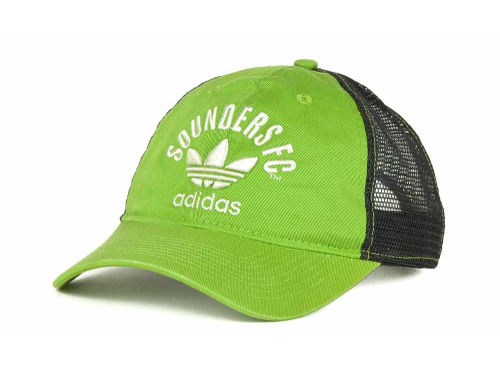 Seattle Sounders FC adidas MLS 3 Stripe Slouch Cap Hats