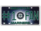 Seattle Mariners Rico Industries #1 Fan Metal Tab Auto Accessories