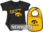 Iowa Hawkeyes Colosseum NCAA Newborn Dribble Creeper Bib Set Infant Apparel