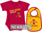 Iowa State Cyclones Colosseum NCAA Newborn Dribble Creeper Bib Set Infant Apparel