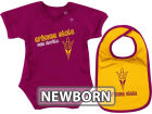 Arizona State Sun Devils Colosseum NCAA Newborn Dribble Creeper Bib Set Infant Apparel