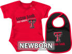 Texas Tech Red Raiders Colosseum NCAA Newborn Dribble Creeper Bib Set Infant Apparel