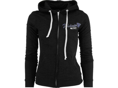 Washington Huskies Blue 84 NCAA Womens Jr Burnout Full Zip Hoody