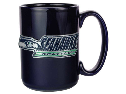 Seattle Seahawks Wordmark Great American Products 15 oz Ceramic Mug