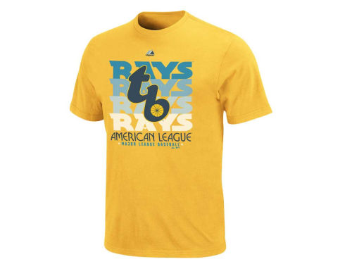 Tampa Bay Rays Majestic MLB Type Stripe T-Shirt