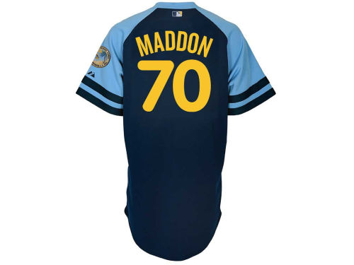 Tampa Bay Rays Joe Maddon Majestic MLB Player Replica Jersey MD