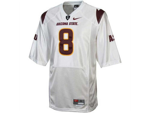 Arizona State Sun Devils #8 Nike NCAA Twill Football Jersey
