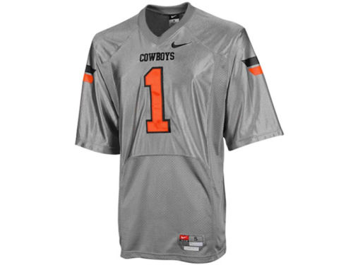Oklahoma State Cowboys #1 Nike NCAA Twill Football Jersey